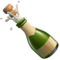 Bottle With Popping Cork on Apple