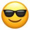 Smiling Face With Sunglasses on Apple