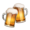 Clinking Beer Mugs on Apple