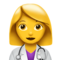 Woman Health Worker on Apple