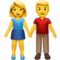 Woman and Man Holding Hands on Apple