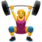 Woman Lifting Weights on Apple