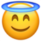 Smiling Face with Halo on Apple
