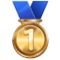 1st Place Medal on WhatsApp