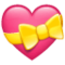 Heart with Ribbon on WhatsApp