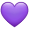 Purple Heart on WhatsApp