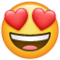 Smiling Face With Heart-Eyes on WhatsApp
