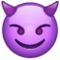 Smiling Face with Horns on WhatsApp