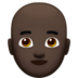 Man: Dark Skin Tone, Bald