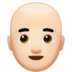 Man: Light Skin Tone, Bald