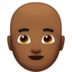 Man: Medium-Dark Skin Tone, Bald
