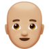 Man: Medium-Light Skin Tone, Bald
