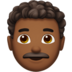 Man: Medium-Dark Skin Tone, Curly Hair