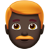Man: Dark Skin Tone, Red Hair