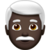 Man: Dark Skin Tone, White Hair
