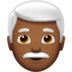 Man: Medium-Dark Skin Tone, White Hair