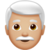 Man: Medium-Light Skin Tone, White Hair