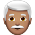 Man: Medium Skin Tone, White Hair