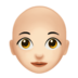 Woman: Light Skin Tone, Bald