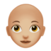 Woman: Medium-Light Skin Tone, Bald
