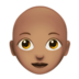 Woman: Medium Skin Tone, Bald