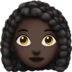 Woman: Dark Skin Tone, Curly Hair