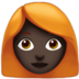 Woman: Dark Skin Tone, Red Hair