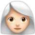 Woman: Light Skin Tone, White Hair