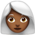 Woman: Medium-Dark Skin Tone, White Hair