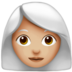 Woman: Medium-Light Skin Tone, White Hair