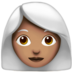 Woman: Medium Skin Tone, White Hair