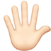Hand With Fingers Splayed: Light Skin Tone