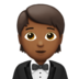 Person in Tuxedo: Medium-Dark Skin Tone