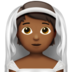 Person With Veil: Medium-Dark Skin Tone