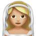Bride With Veil: Medium-Light Skin Tone