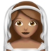 Bride With Veil: Medium Skin Tone