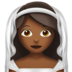 Bride With Veil: Medium-Dark Skin Tone