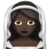 Bride With Veil: Dark Skin Tone