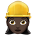 Woman Construction Worker: Dark Skin Tone