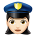 Woman Police Officer: Light Skin Tone