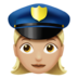 Woman Police Officer: Medium-Light Skin Tone