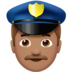Man Police Officer: Medium Skin Tone