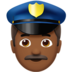 Man Police Officer: Medium-Dark Skin Tone
