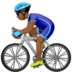 Man Biking: Medium-Dark Skin Tone