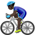 Man Biking: Dark Skin Tone