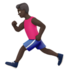 Man Running: Dark Skin Tone