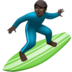 Man Surfing: Dark Skin Tone