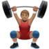 Man Lifting Weights: Medium Skin Tone