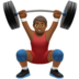 Man Lifting Weights: Medium-Dark Skin Tone
