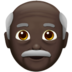 Old Man: Dark Skin Tone